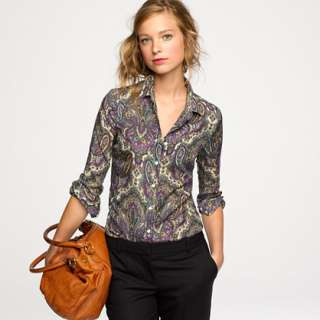 Perfect shirt in royal paisley   casual shirts   Womens shirts & tops