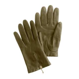 Zip leather gloves   sale   Womens accessories   J.Crew
