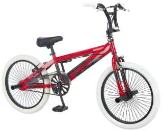 "Mongoose 20"" Boy's Gavel BMX Freestyle Bike Bicycle   Red & White"
