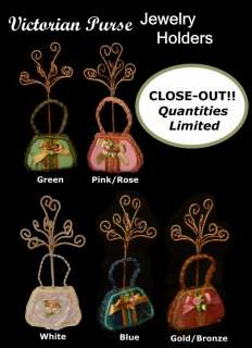 Victorian Purse Jewelry Holder Stand Choice of 5 Colors