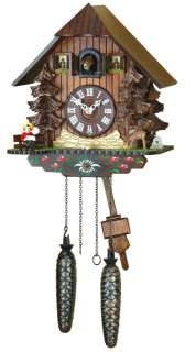 Cuckoo Clock Black forest house, deer, .. NEW