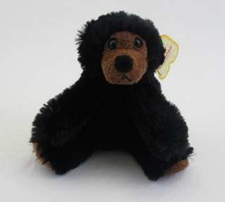 Aurora Plush Black Teddy Bear Stuffed Animal Toy NEW