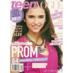 Teen Vogue Magazine (Ultimate Prom) Nina Dobrev   Vampire