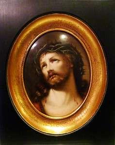 Porcelain Hand Painted Plaque Jesus Christ 19 cent KPM quality