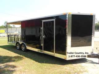 24 Custom Utility Enclosed Cargo Trailer w/ Porch + Ramp