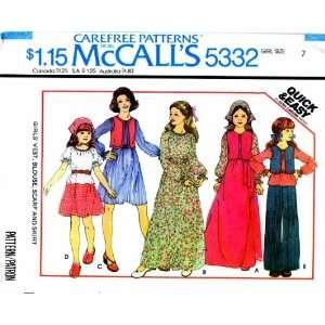 Pattern Girls Vest Blouse Scarf Skirt Size 7: Arts, Crafts & Sewing