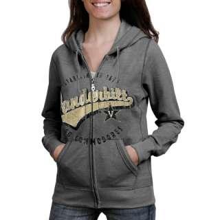 Vanderbilt Commodores Ladies Ash Swept Full Zip Hoodie Sweatshirt