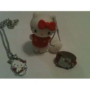 Red Hello Kitty 4 GB Flash Drive, Necklace, and Ring Set