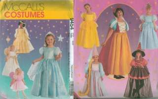 Mccalls Storybook Princess Characters Costume Sewing Pattern Halloween