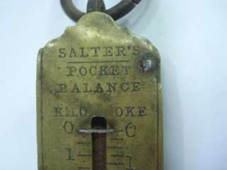 ANTIQUE POCKET BALANCE WEIGHT SCALE SALTER'S   8kgs