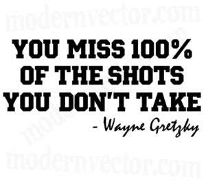 Wayne Gretzky Hockey Vinyl Wall Quote Decal Lettering