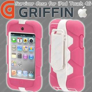 GENUINE Griffin Survivor Case for Apple iPod Touch 4G Pink White Tough
