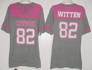 82 Made By Dallas Cowboys Fitted T SHIRT Jersey New Womens S XL