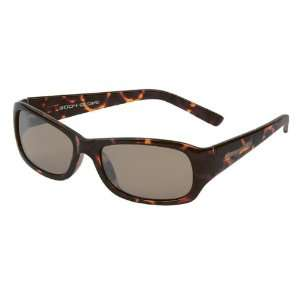 Koko, Shiny Dark Demi Frame, Brown Silver Mirror Polarized