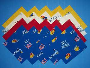 UNIVERSITY OF KANSAS JAYHAWK Fabric Squares* *WE Die Cut 4 U