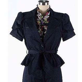 Short Sleeve Denim Jacket Apostrophe Clothing Womens Jackets