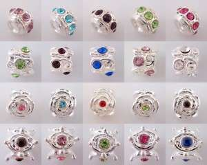 20X Charms Silver Plated Spacer Beads Fit Bracelet SH02