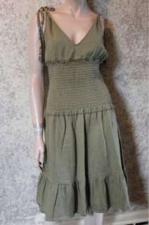 Free People Green Sleeveless Dress size 12