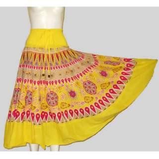 Vintage Style Yellow Paisley Mexican Boho Halter Strapless Long Dress