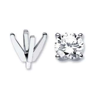14k White Gold Diamond Ring Prong Setting Round 0.15ct