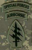 ACU PATCH SPECIAL FORCES WITH AIRBORNE TAB WITH VELCRO