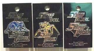 Set of 3 Starship Troopers Enamel Pins MOC