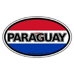 Paraguay Flag Car Bumper Sticker Decal Oval