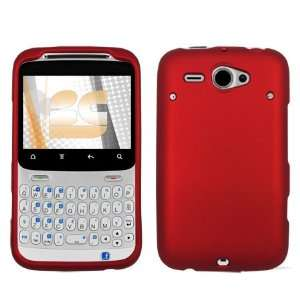 Premium Red Rubberized Shield Hard Case Cover for HTC