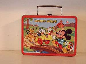 Excellent 1954 MICKEY MOUSE & DONALD DUCK Lunchbox By, Adco Liberty