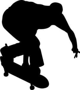 SKATER skateboard guy Boys Room Kids Wall Art Decal
