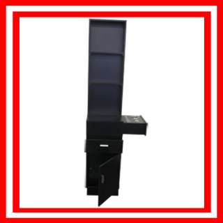 BLACK CABINET TOWER STYLING CHAIR STATION PACKAGE BEAUTY SALON