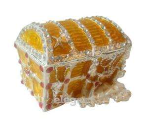 Gold Treasure Crystals Jewellery Jewelry Trinket Box