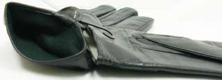 Eskimo Genuine Leather Black Ladies Dress Winter Snow Bow Glove Medium
