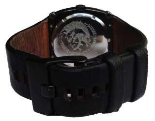 Diesel Only The Brave DZ3034 Mens Black Dial,& Black Leather Strap