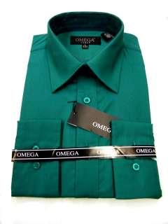 MENS TEAL GREEN DRESS SHIRT ALL SIZES, LENGTH