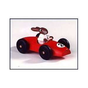 German Easter Bunny Race Car Figurine