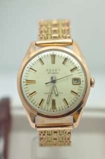 1960s 14K Rose Gold Russian Novet Watch