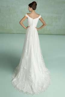Pretty white off shoulder Wedding bridal Dress gown lace up/zipper