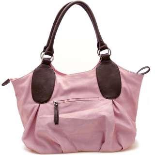 Women designer Inspired shoulder bag handbag pink