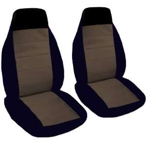 2 black and brown car seat covers for a 2001 Ford Focus