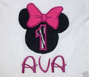 Personalized Minnie Mouse Disney T Shirt 2T 3T 4T 6/8