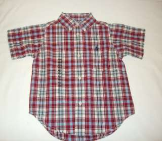 TODDLER BOYS RALPH LAUREN POLO PLAID SHIRT SIZE 2T, NWT
