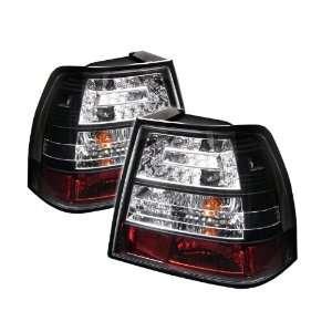 Volkswagen Jetta 1999 2000 2001 2002 2003 2004 LED Tail Lights / Black