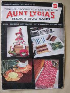 Aunt Lydias Rug Yarn Crochet Knit Patterns Toys Slippers Horse TV