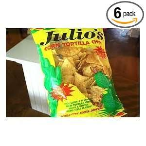 Julios Seasoned Corn Tortilla Chips   10 Oz (Pack of 6)