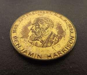 Vintage Benjamin Harrison 1889 1893 23rd President U.S.A Coin
