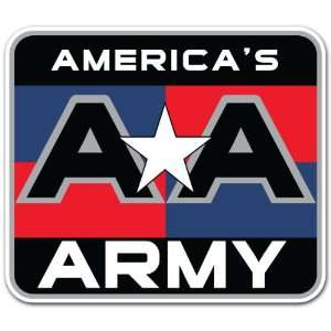 Americas Army United States Forces AA Car Bumper Sticker Decal 4.5x4