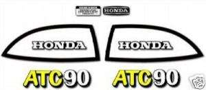 HONDA 1972 1973 ATC 90 K1 COMPLETE DECAL GRAPHIC KIT