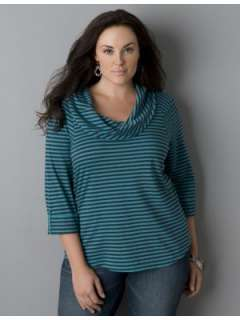 LANE BRYANT   Supima® cotton cowl neck tee