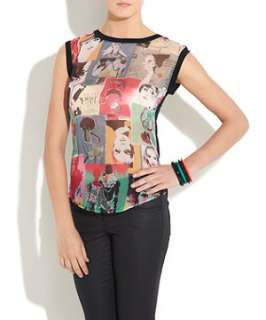 null (Multi Col) Cameo Rose Face Print T Shirt  254049699  New Look